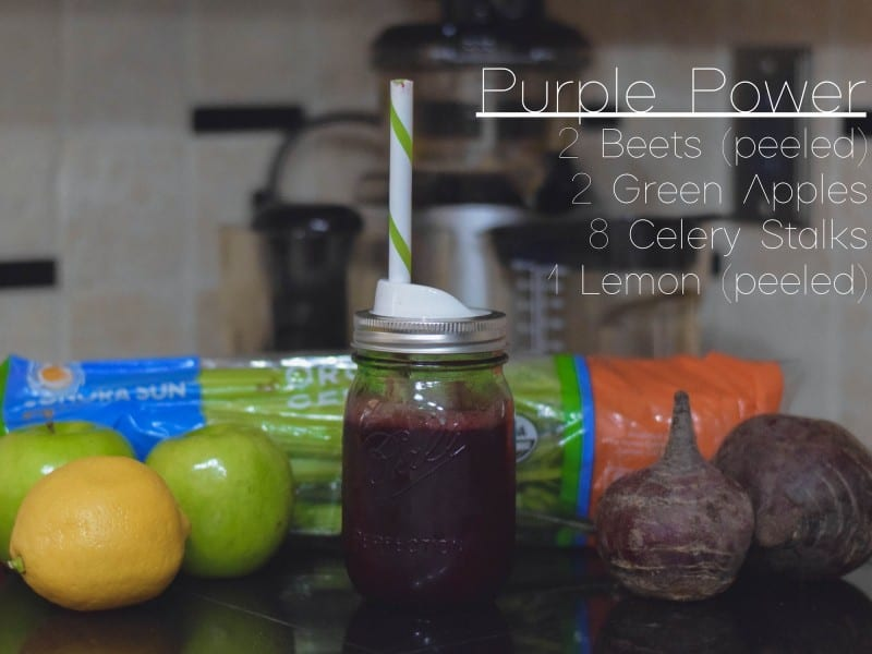 purple power 3 day diy juice detox by delirium style