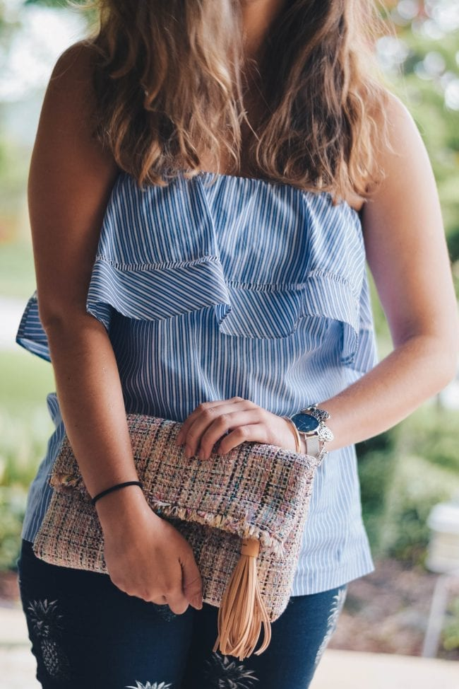 straw clutch for summer