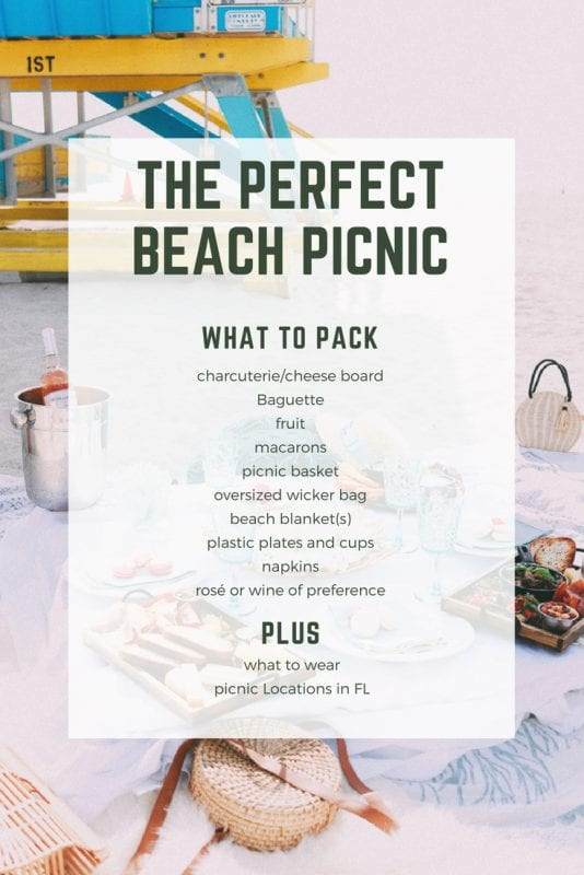 picnic packing list and food ideas